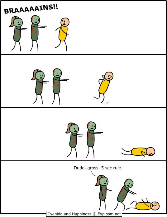 Atleast some dignity from those zombies!