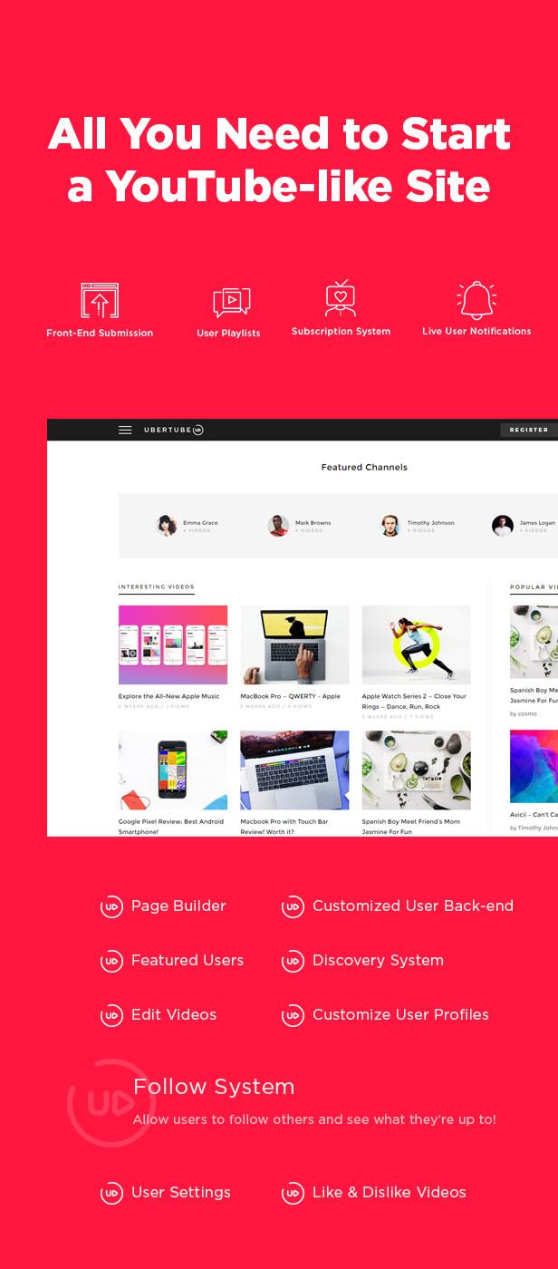 UberTube - Video WordPress Theme - 1