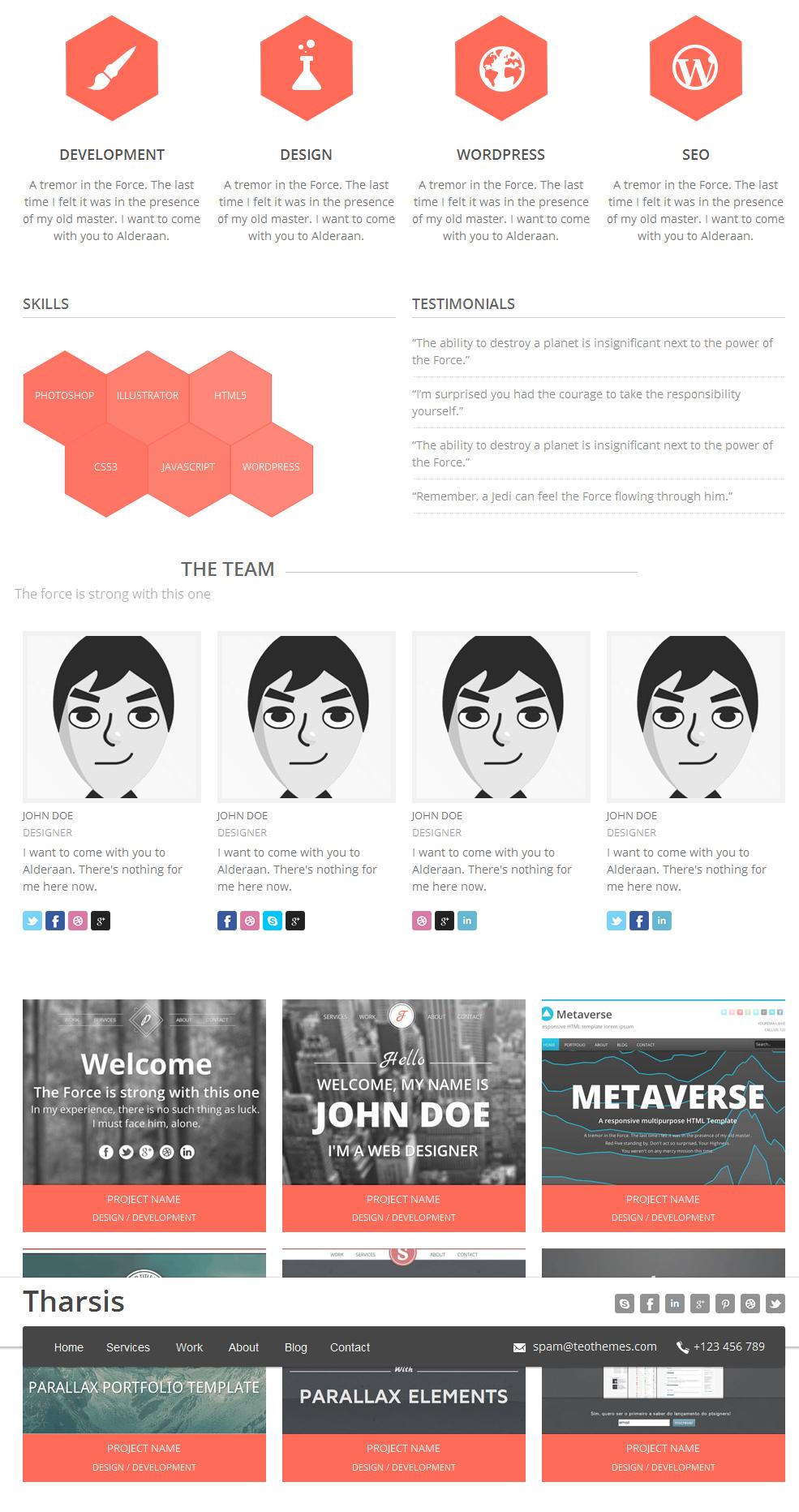 Tharsis - Responsive One Page Portfolio Theme