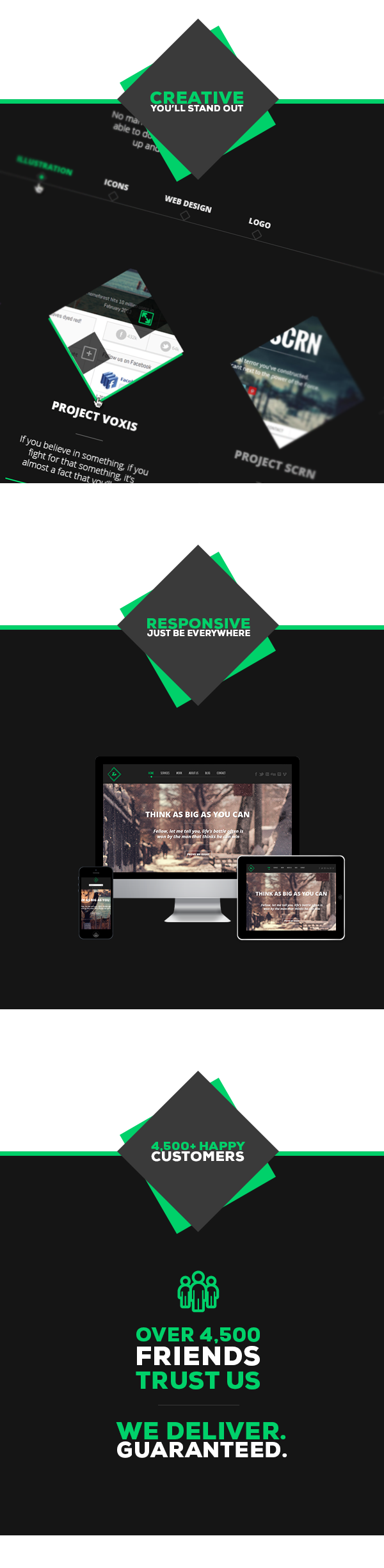 Teo - Responsive Parallax Single Page Portfolio